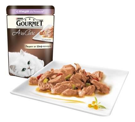 Влажный корм для кошек Gourmet A la Carte, домашняя птица, овощи, 85г