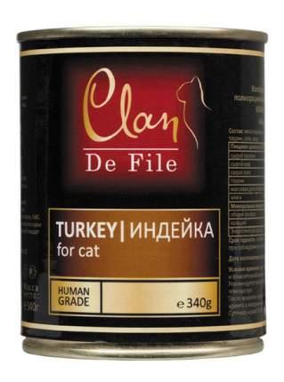 Консервы для кошек Clan De File, индейка, 12шт, 340г