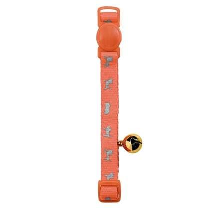 Ошейник для кошек HUNTER Neon нейлон, оранжевый, 20-32 см