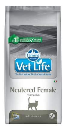 Сухой корм для кошек Farmina Vet Life Neutered Female, для стерилизованных, курица, 5кг