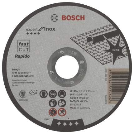 Диск отрезной абразивный Bosch AS 60 T INOX BF 125x1x22.23мм (2608600549)