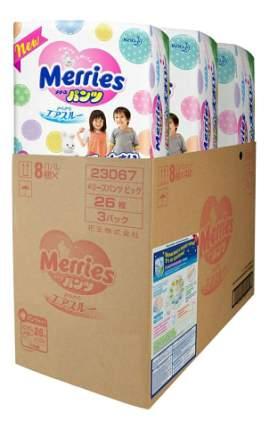 Подгузники-трусики Merries XXL (15-28 кг), 78 шт.