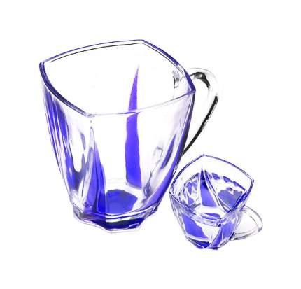 Набор стаканов LORAINE LR (х6) 24080 Прозрачный, синий