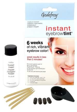 Краска-хна для бровей Godefroy Instant Eyebrow Tint Kit Medium Brown 4 капсулы