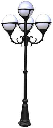 Фонарный столб Arte Lamp A1497PA-4BK