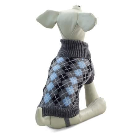 Свитер для собак Triol размер M унисекс, серый, голубой, черный, длина спины 30 см