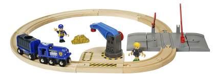 Деревянная Железная дорога World Полицейский поезд с золотом Brio 33812