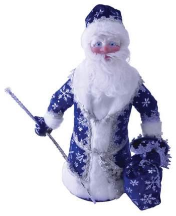 Кукла декоративная Яркий праздник Дед Мороз Синий 40 см