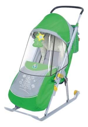 Санки детские пластиковые Nika Детям 4 зеленый