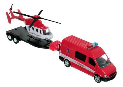 Набор пожарного в кейсе Autotime Пожарная Охрана с вертолетом