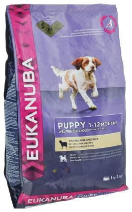 Сухой корм для щенков Eukanuba Puppy All Breeds, ягненок и рис, 12кг