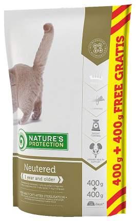 Сухой корм для кошек Nature's Protection NEUTERED, для стерилизованных, птица, 0,8кг
