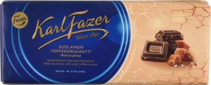Шоколад молочный Fazer с крошкой из соленой мягкой карамели 200 г