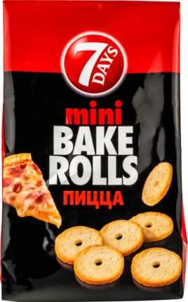 Сухарики пшеничные Bake rolls mini с пиццой 80 г