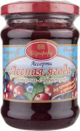 Лесная ягода Шугарофф ассорти протертая с фруктозой 250 г