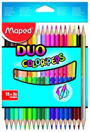 Карандаши цветные Maped Color Peps Duo двухсторонние 36 цветов, 18 шт