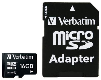 Карта памяти Verbatim Micro SDHC 43968 16GB