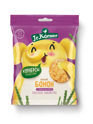 Хлебцы-мини Jr.Korner рисовые с бананом 30 г