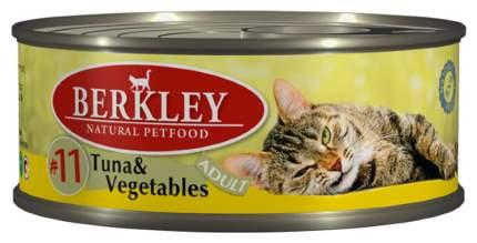 Консервы для кошек Berkley Adult Menu №11 паштет с тунца овощами маслом лосося 6шт по 100г