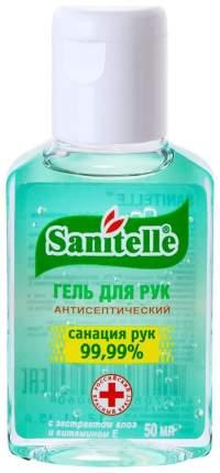 Дезинфицирующее средство для рук Sanitelle С экстрактом Алоэ и витамином Е 50 мл