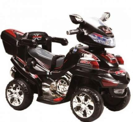 Квадроцикл р/у черный аккум 6v/4, 5ah, 12w Пламенный мотор 86079