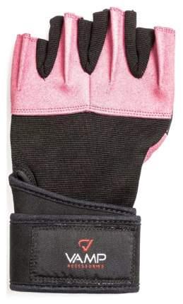 Перчатки для тяжелой атлетики и фитнеса VAMP 540, розовые, L