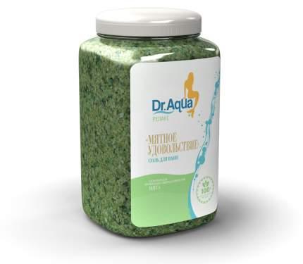 Соль морская ароматная Мята 'Мятное удовольствие' Dr. Aqua 750 гр