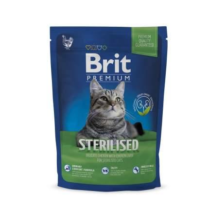 Сухой корм для кошек Brit Premium Cat Sterilised, утка с курицей и куриной печенью, 0,8кг