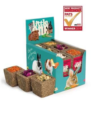 Лакомство для грызунов Little One, 1 корзинка из луговых трав, вкус в ассортименте, 65г