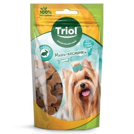 Лакомство для собак Triol, мини-косточки из кролика, для мелких пород, 50г