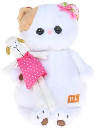 Мягкая игрушка BUDI BASA Кошечка Ли Ли с овечкой, 24 см