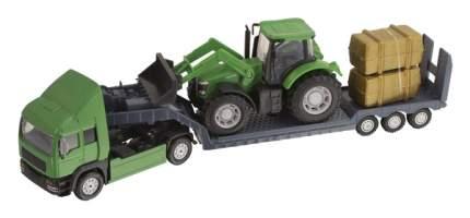 Фермерский грузовой автомобиль Teamsterz с трактором, зеленый HTI