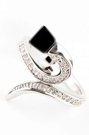 Кольцо женское Slava Zaitsev 1316 серебристое/черное р.18
