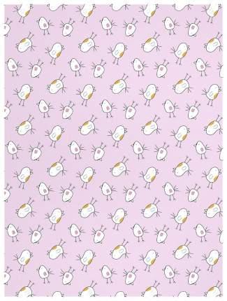 Плед-покрывало Baby Nice Птичка 100х118 см, розовый