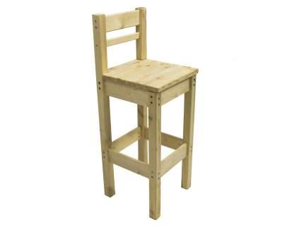 Деревянный барный стул со спинкой Green Mebel Барный стул с высокой спинкой Натуральный