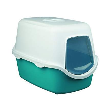 Туалет для кошек TRIXIE Vico, прямоугольный, белый, зеленый, 56х40х40 см
