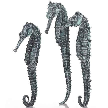 Набор декоративных элементов для аквариума biOrb из трех черных морских коньков, 12см
