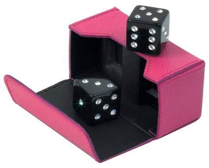Кости игральные со стразами Swarovski, цвет: розовый