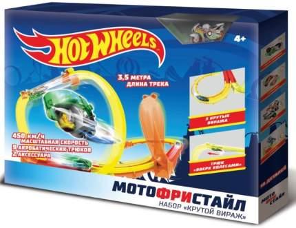 Мотофристайл Hot Wheels Крутой Вираж трек для мотоциклов