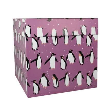 "Коробкаподарочная ""Пингвины"",22,5 х 22,5 х 22,5 см"