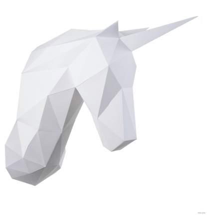 3D-конструктор Paperraz трофейная голова Единорог Снежок