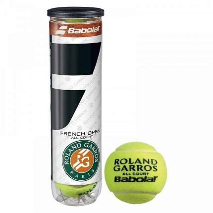 Мяч теннисный Babolat French Open All Court 4 шт., желтый