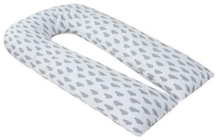 Подушка для беременных U-образная AmaroBaby Облака серая, 340x35 см