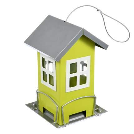 Кормушка для птиц Blumen Haus, зеленая, 12х12х19 см