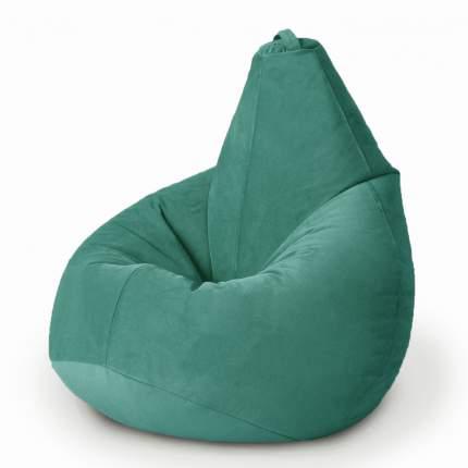 Кресло-мешок MyPuff Груша Комфорт Велюр XL, темный ментол