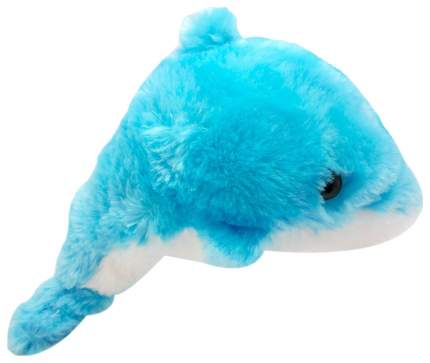 Мягкая игрушка АБВГДейка Дельфин Лохматик голубой, 30 см