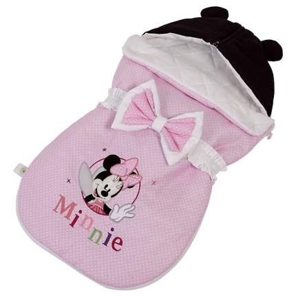 Конверт демисезонный Polini kids Disney baby Минни Маус Фея, розовый