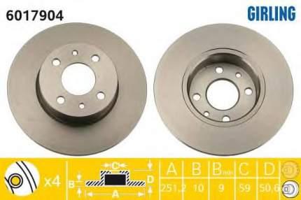 Тормозной диск GIRLING 6017904