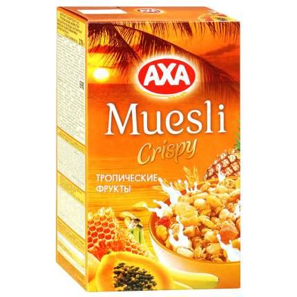 Мюсли Аxa хрустящие медовые с тропическими фруктами 270 г