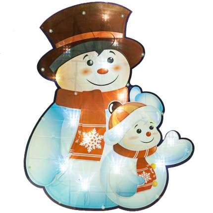 Световое панно Snowmen Снеговик Е9635520 37х45 см